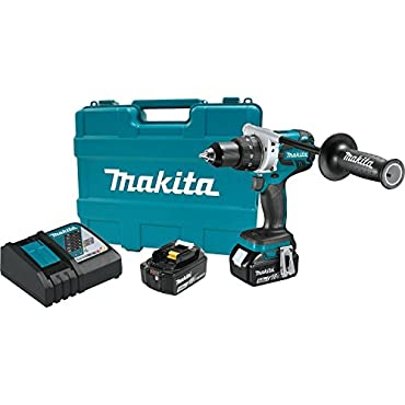 Makita XFD07T 18V LXT Lithium-Ion Brushless Cordless 1/2 Driver-Drill Kit (5.0Ah)