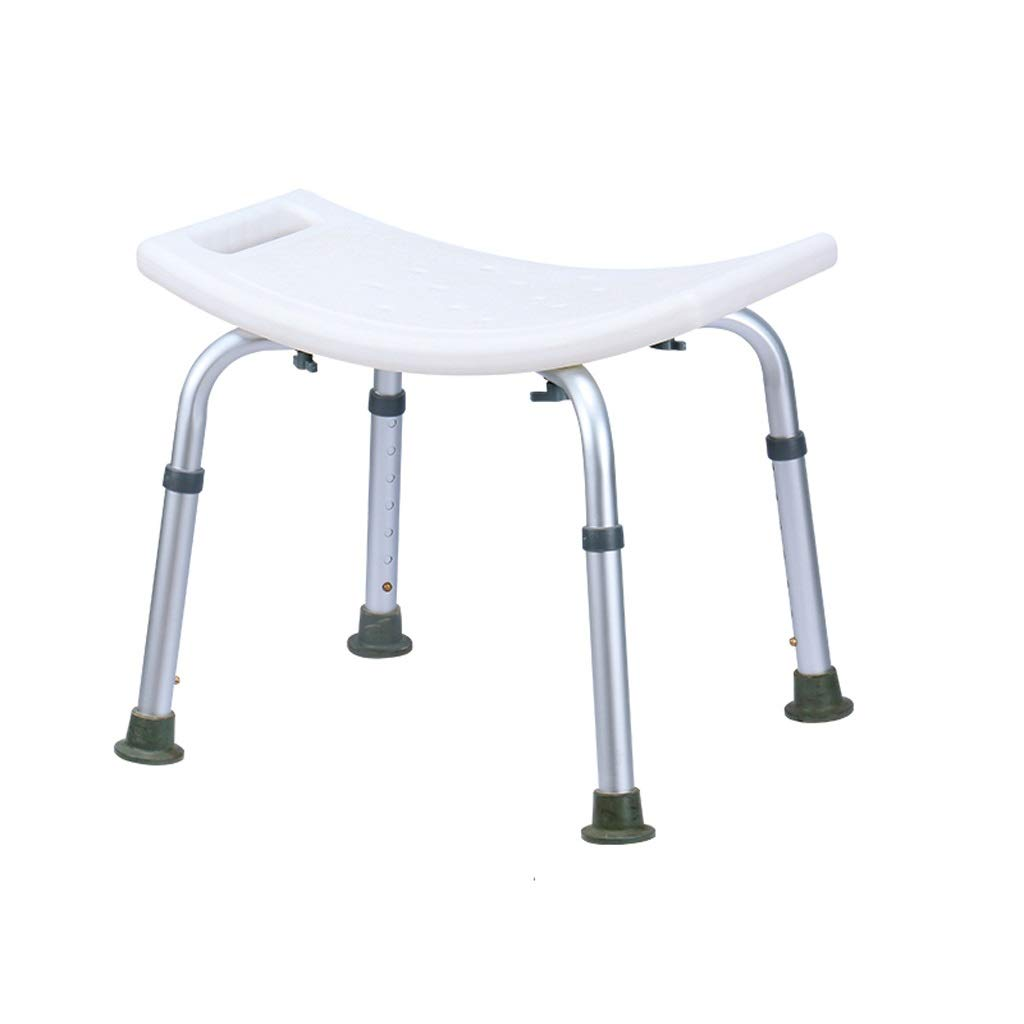 BEAUTY--shower stool, Aluminium Shower Seat Chair Non-Slip Height Adjustable Disability Aid,Suitable for People with Reduced Mobility (Color : Without Cushion) by BEAUTY--shower stool