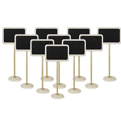 Tinksky Lot de 10 petites ardoise en bois avec affichette