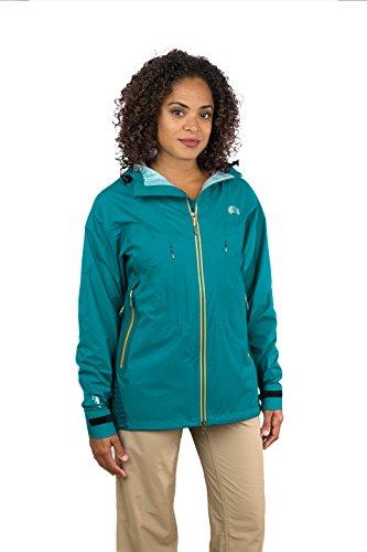 Mishmi Takin Virunga - 3 Layer eVent Waterproof, Windproof, Hard Shell Jacket - Women (Medium, Teal Blue) by Mishmi Takin