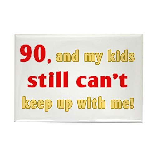 CafePress Witty 90Th Birthday Rectangle Magnet, 2