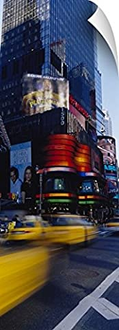 Canvas On Demand Wall Peel Wall Art Print entitled Traffic on a street, Times Square, Manhattan, New York City, New York (72 Hours New York Times)