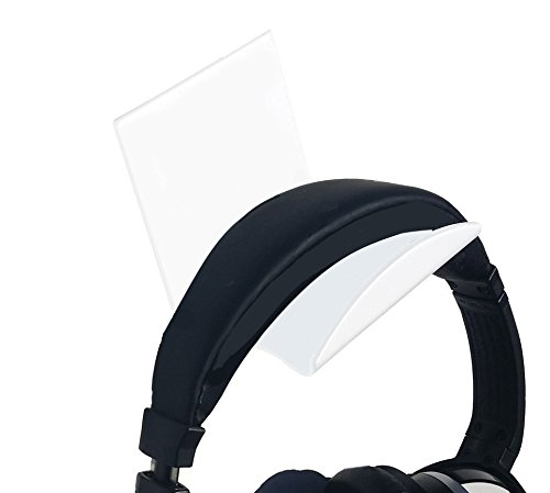 Stick On White XL Headphone Hooks 2 PACK