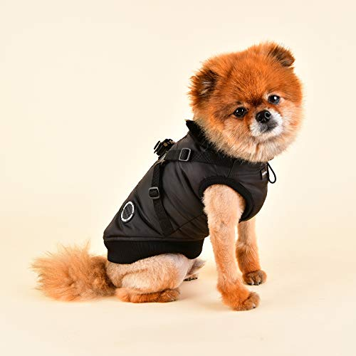 Puppia PLSD-VT1668-BK-M Frost Pet Coat, Black, Medium by Puppia (Image #3)