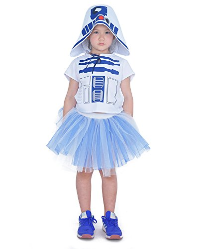 Coskidz Children's R2D2 Shirt with Skirt Costume Girl Outfit (One Size) -