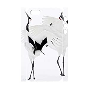 ALICASE Diy Customized Case Red crowned Crane 3D Case for iPhone 5,5S [Pattern-1]
