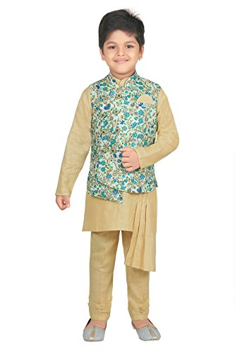 d83ff54422 ahhaaaa Kids Indian Ethnic Designer Modi Suit Kurta Pyjama and Waistcoat Set  for Boys