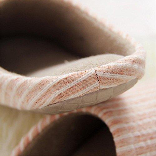 mhgao Lady Zapatillas de algodón casa antideslizante, en otoño y el invierno el silencio Zapatillas Suave y cálida, 2, medium 1