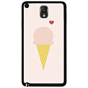 Cute Icream Cone and Pink Heart Hard Snap on Phone Case (Note 3 III)