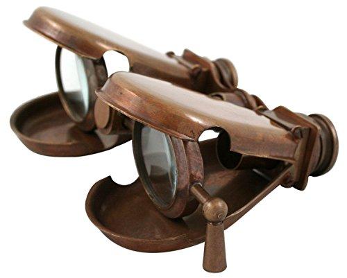 Victorian Costume Emporium (Historical Emporium Articulated Folding Brass Binoculars Bronze)