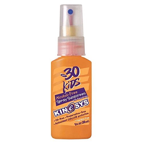 KINeSYS SPF 30 Kids Sunscreen Spray, Alcohol-Free Fragrance-Free, Travel Size, 1 Ounce by KINeSYS