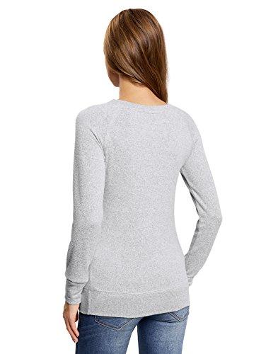 """oodji Ultra Mujer Suéter con Dibujo """"Búho"""" Gris (2029Z)"""