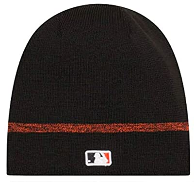New Era MLB San Francisco Giants Clubhouse Stocking Knit Hat Beanie Skull Cap Black