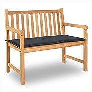 "K&A Company Garden Bench Cushion Anthracite 39.4""x19.7""x1.18"""