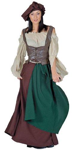 Renaissance Barmaid Costume (Funny Fashion Medieval Renaissance Fair Peasant Barmaid Halloween Costume Small)
