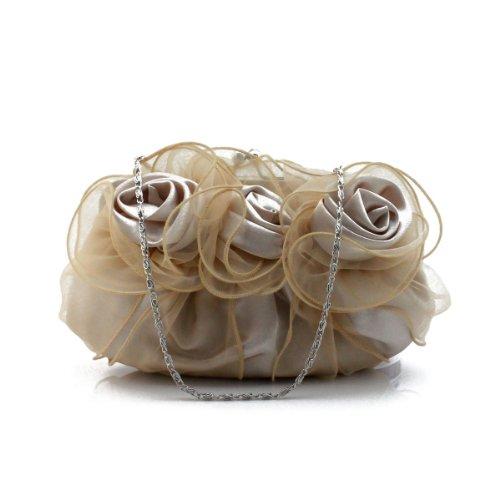 H:oter Blume-Form Abschlussball & Party-Abend Handtasche, Handtasche, Geschenkideen - Farben verschiedenen, Preis / Stück - Aprikose