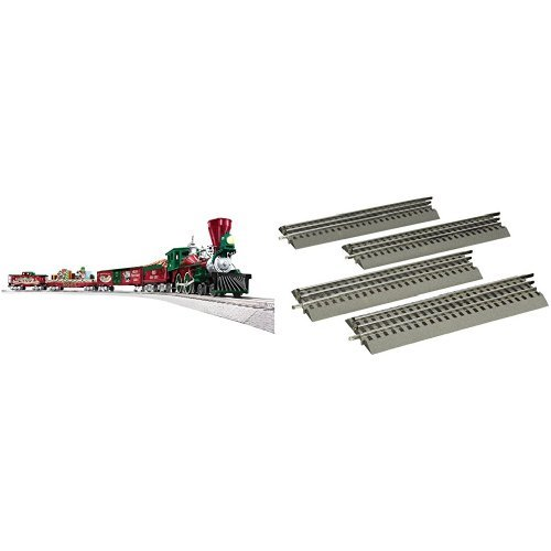 Price comparison product image Lionel Mickey's Holiday to Remember Train Set and O-Gauge Straight Track 4-Pack
