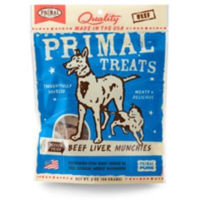 Primal Freeze-dried Beef Liver Munchies 2oz 2pack