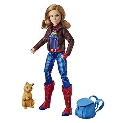 Boneca Capitã Marvel Deluxe, Capitã Marvel, Azul/vermelho/dourado