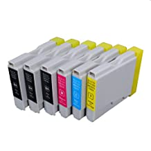 6 Pack Compatible Brother LC-51 3 Black, 1 Cyan, 1 Magenta, 1 Yellow for use with Brother DCP-130-C, DCP-350-C, DCP-540-CN, Fax-1355, Fax-1360, Intellifax 1360, Intellifax 2480C, MFC-240-C, MFC-260-C, MFC-3360-C, MFC-440-CN, MFC-465-CN, MFC-5460-CN, MFC-5860-CN, MFC-665-CW, MFC-685-CW, MFC-845-CW, MFC-885-CW. Ink Cartridges for inkjet printers. LC-51-BK , LC-51-C , LC-51-M , LC-51-Y © Zulu Inks