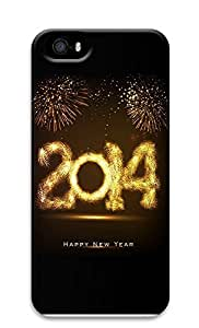 iPhone 5 5S Case 2114 Happy New Year Fireworks1 3D Custom iPhone 5 5S Case Cover