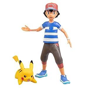 Pokémon Battle Figure Multi Pack Set with Launching Action - Includes Ash, Pikachu, Zubat, Eevee, Ditto and Bulbasaur - 6 Pieces - Ages 4+