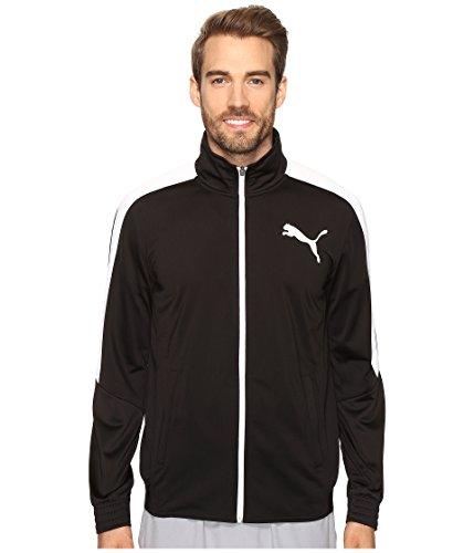 PUMA Men's Contrast Jacket, Black White, -