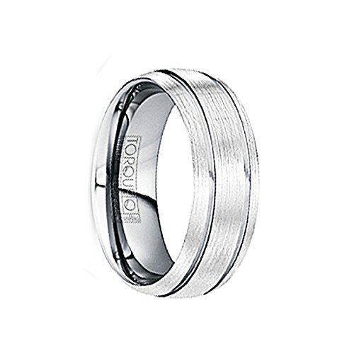 Marinus Wire Brushed Tungsten Comfort Fit Band With Polished Grooves   6Mm   8Mm