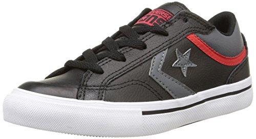 Converse Pro Blaz Lea Ox - Zapatillas de estar por casa Unisex niños Negro (Noir/Gris/Rouge)