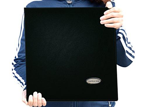 Zoview Self-Adhesive Photo Album, Family album, Leather Cover,Hand Made DIY Albums Holds 3X5, 4X6, 5X7, 6X8 ,8X10, photos (Black, Large) (Album X Photo 10 13)