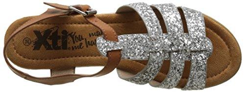 Xti Con plata Sandalias Plateado Para Plataforma 046547 Mujer rwSaxqFrv
