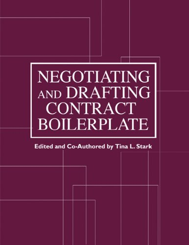 Download Negotiating and Drafting Contract Boilerplate ebook