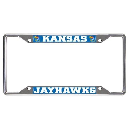 FANMATS NCAA University of Kansas Jayhawks Chrome License Plate