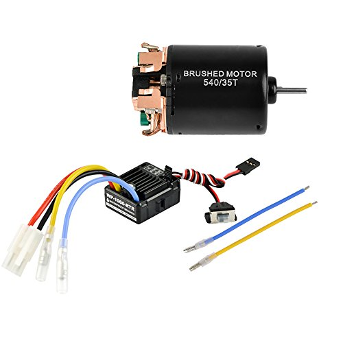 Power Nimh Battery Hi (Jrelecs 540 35T 4 Poles Brushed Motor and WP-1060-RTR 60A Waterproof Brushed ESC Electronic Speed Controller with 5V/2A BEC for Axial RC4WD CROSS HPI MIST GMADE D90 D110 TF2 SCX10 ii PG4 MC8 WARAITH Y)