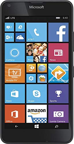 Lumia 640 4G LTE Smartphone, 6764A with 8GB Memory Cell GoPhone - Black - Compatible with Microsoft Nokia 8.1 Phones -Carrier Locked to AT&T Wireless (The Best Lumia Smartphone)