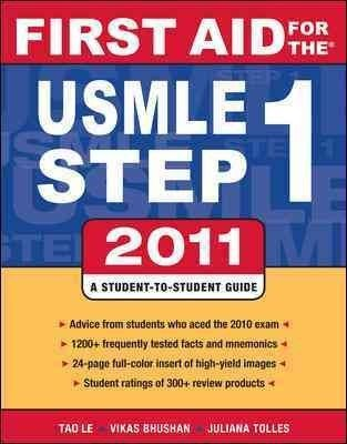 Download By Tao Le: First Aid for the USMLE Step 1, 2010 (First Aid USMLE) Twentieth (20th) Edition pdf