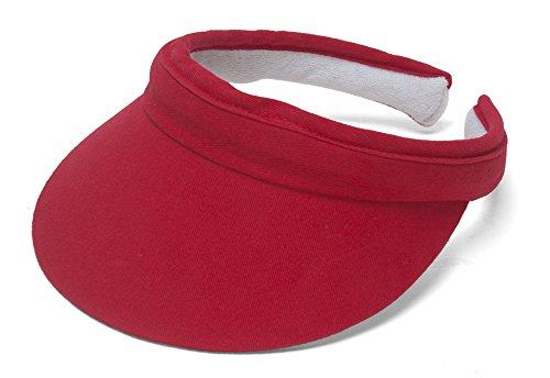 Sports Cotton Twill Visor - Red