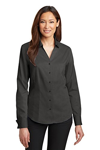 Cuff Oxford (Red House Women's French Cuff Non Iron Pinpoint Oxford M Charcoal)