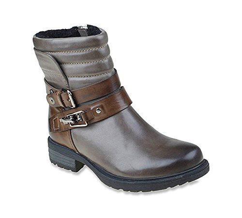 Earth Women's Pepperidge Ankle Boot,Storm Grey Calf Leather,US 6.5 M