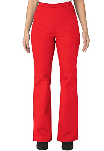 Jessica London Plus Size Tall Bootcut Stretch Denim Jeggings (Hot Red,14 T)