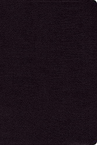 NIV, Reference Bible, Large Print, Bonded Leather, Black, Red Letter Edition