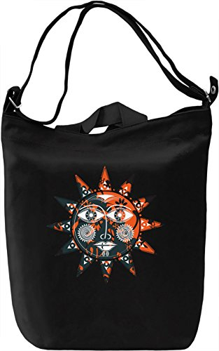 Sun Borsa Giornaliera Canvas Canvas Day Bag| 100% Premium Cotton Canvas| DTG Printing|