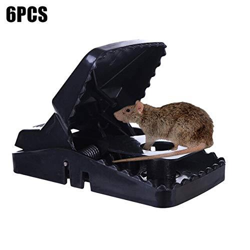 6 Pcs Reusable Mouse Rat Trap Snap Power Rodent Killer Mouse Catcher Hogard JY16   as Shown