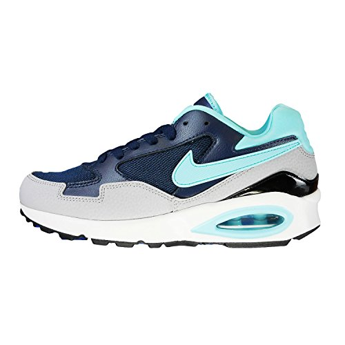 Nike Air Max ST, Women Low-Top Sneakers mid navy tide pool blue wolf grey black 400