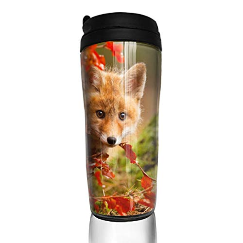 (Little Fox ABS Travel Coffee Mugs With QuickSeal Lid Insulated 12 OZ Coffee Cup)