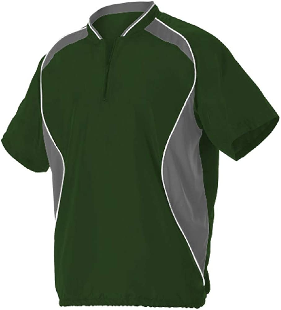 Alleson Mens Short Sleeve Baseball Batters Jacket