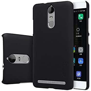 Nillkin Frosted Shield Hard Back Case Cover + Screenguard for Lenovo K5 Note   Black Cases   Covers