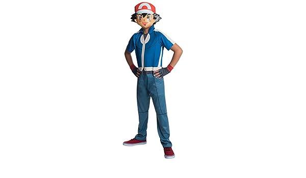 Disfraz de Ash Pokémon para niño - 3-4 años  Amazon.es  Juguetes y juegos 4ab355e354b0