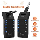 Getaria Wireless Guitar System Double Track Stereo Wireless Guitar Transmitter and Receiver 5 Channels Electric Guitar Bass Keyboard