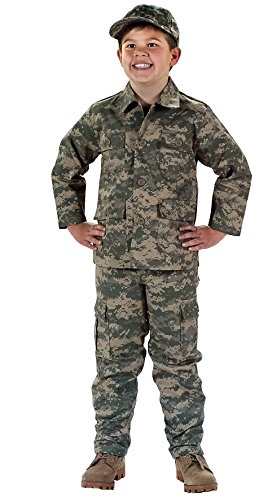 (Rothco Kids BDU Shirt, ACU Digital Camo, Large/16)